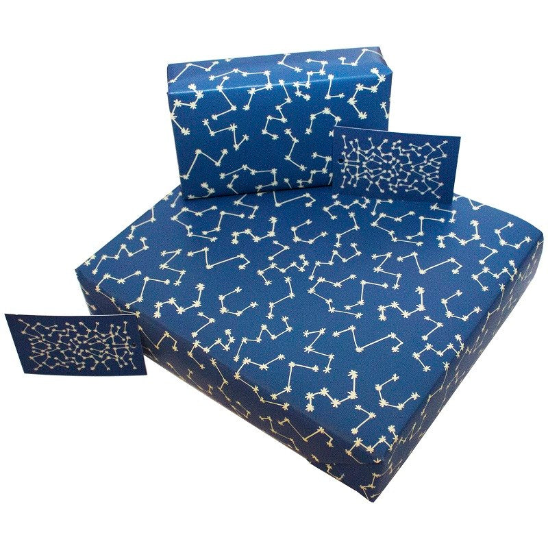 1 sheet of Christmas Stars wrapping paper by Kate Heiss