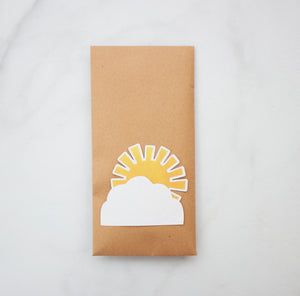 Large pre-filled, Plastic-Free Party Bag with peeping sunshine - single.