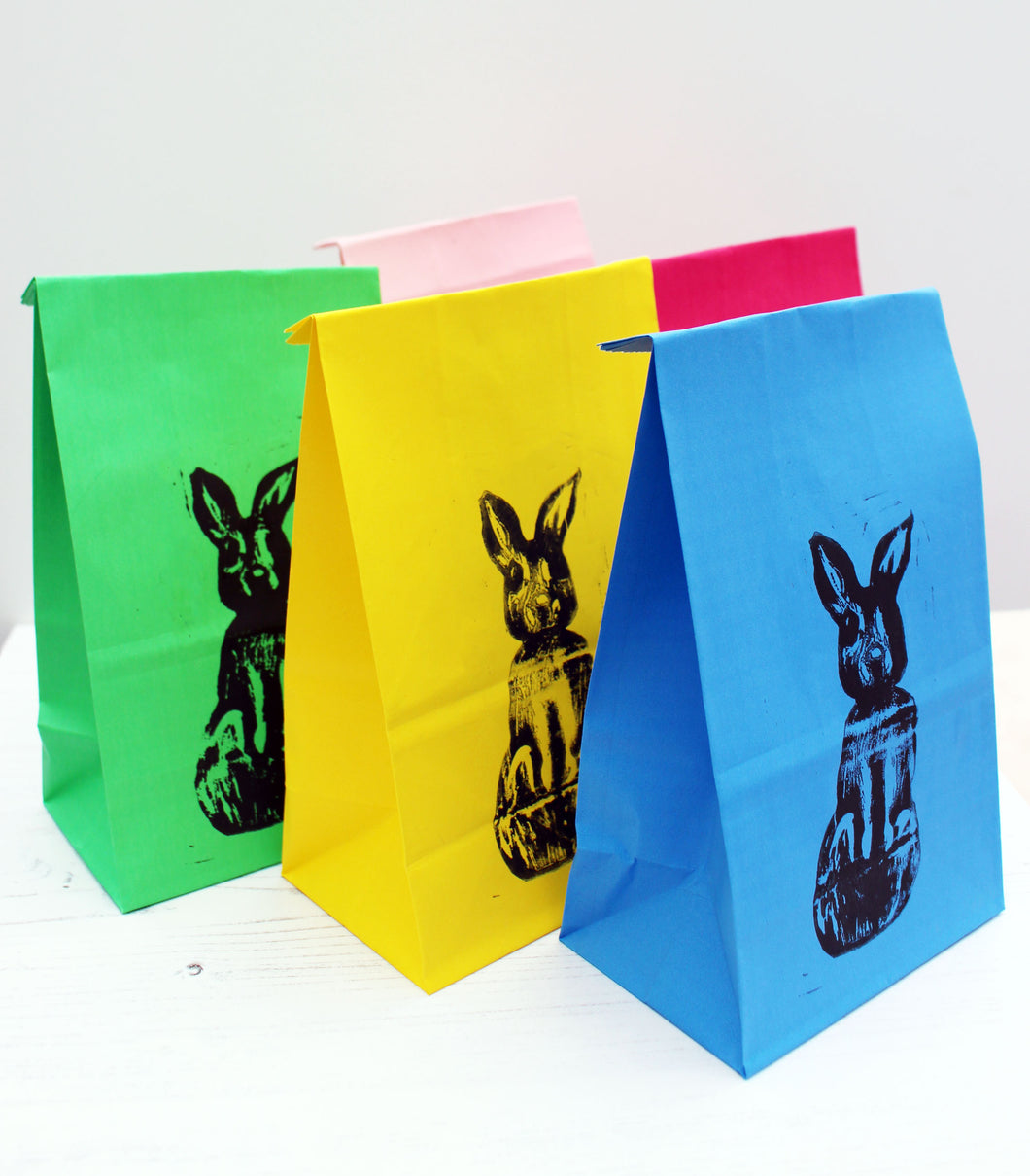 March Hare - Lino Printed Party Bags