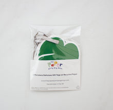 Pack of 6 Tropical Leaf Gift Tags on Recycled Card