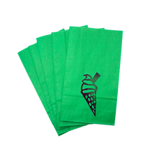 Various Colours Ice-cream hand printed party bag - set of 5