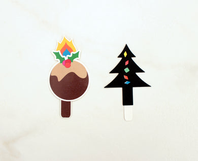 Set of two Christmas Pop-Up Shadow Puppet Bookmarks