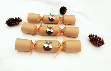 Make your own 6 Plastic-Free Christmas Crackers - Christmas Pudding