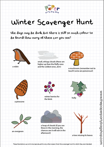 Free download - Winter Scavenger Hunt