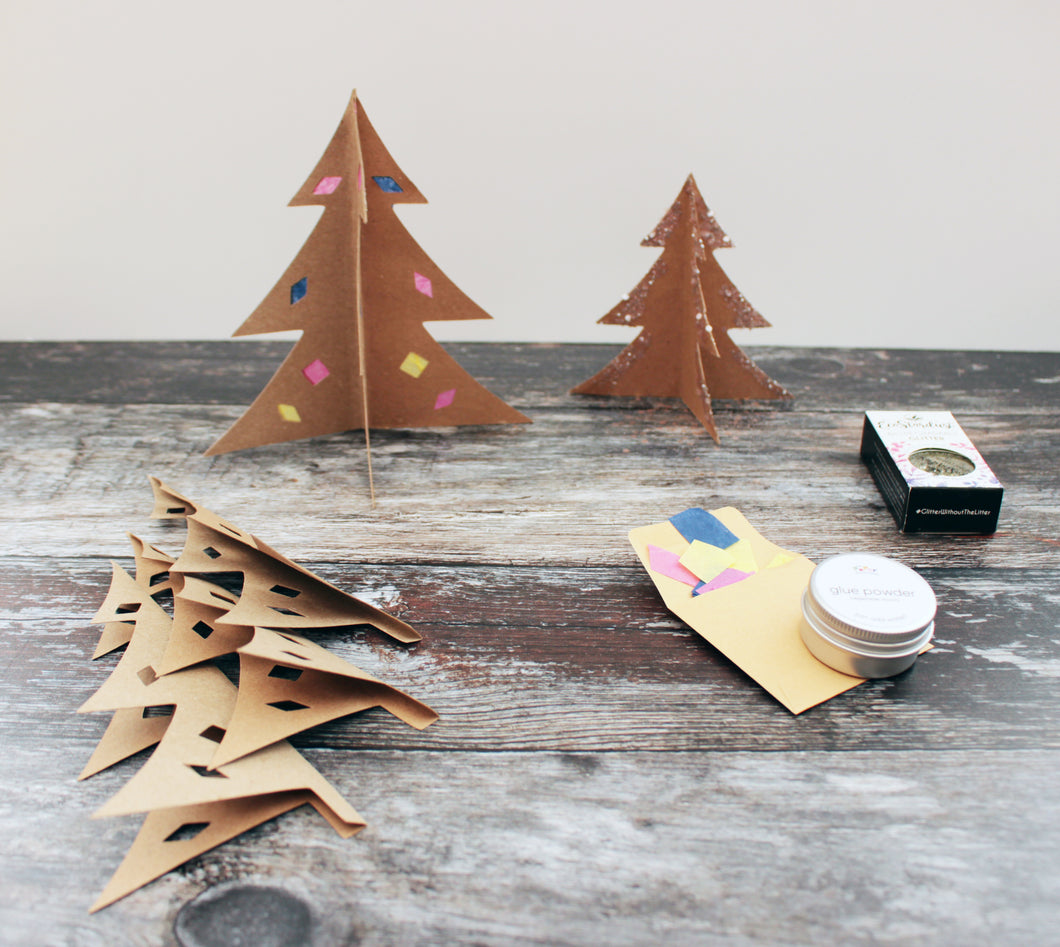 3D Christmas Tree Scene with Make Your Own Glue