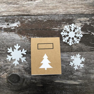 Eco-friendly Christmas Tree Notebook With Stencils