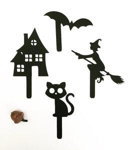 Spooky Halloween shadow puppets