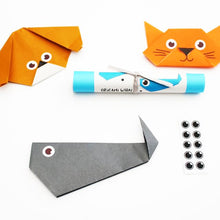 Easy origami cat with instructions