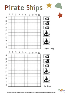 Pirate Ships Game with Instructions (PDF)