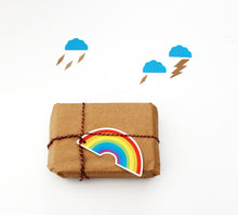 Pack of 6 Rainbow Gift Tags on Recycled Card
