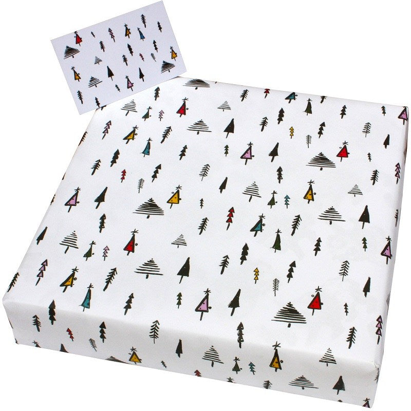 1 sheet of Christmas Inky Trees wrapping paper by Emily Chapman