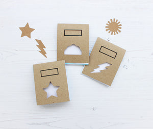 Pack of 3 weather notebook with stencils