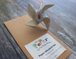 DIY All-Paper Windmill - set of three