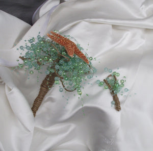 Aqua blue starfish bouquet, Affordable beach bouquet, mint green beach wedding, beach bridesmaid bouquet, pearl bouquet, aqua wedding