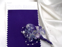 Elegant wedding boutonniere, lavender grooms flower, showy corsage, silver wedding boutonniere, prom corsage, wedding buttonhole, best man