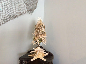 Coastal home decor, beach house decor, nautical home decor, beach Christmas tree, beach wedding decor, starfish tree, beach home decor