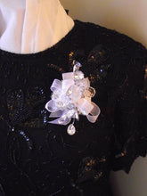 mirrored rhinestone wrist corsage, bling corsage, mother of the bride corsage, crystal corsage, corsage with rhinestones, boutonniere,