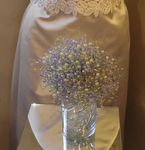 Pearl wedding bouquet, bridal bouquet, bridesmaid bouquet, periwinkle lavender pearl bouquet, blue wedding bouquet, prom, pearl bouquet