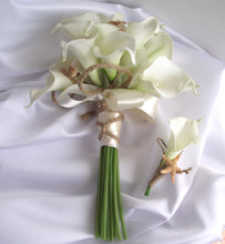 Calla lily and starfish wedding bouquet, beach wedding, bridal bouquet with lilies, florist made, beach bride, starfish wedding