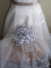 The  mini sparkler: rhinestone bouquet, alternative wedding bouquet, florist made, bride bouquet, bling bouquet, jewelry bouquet, mirror