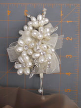 Pearl corsage, mother of the bride, wedding wrist corsage, elegant wedding corsage, pearl corsage, prom flowers, ivory pearl buttonhole