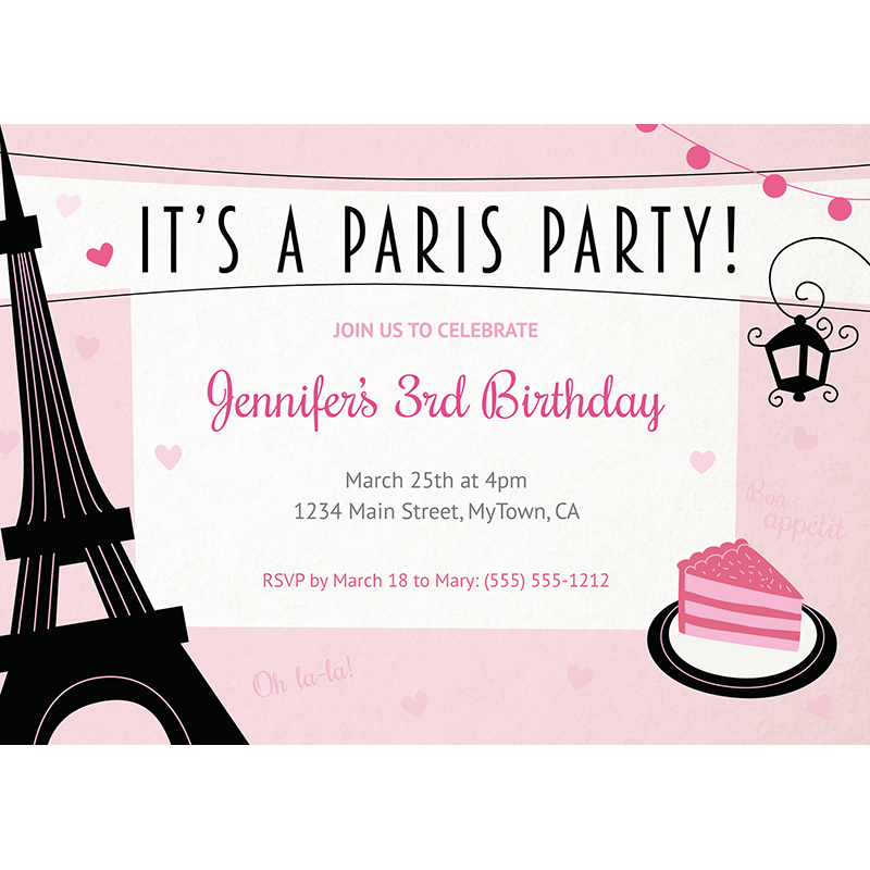 Paris Birthday Invitation By Say Partie