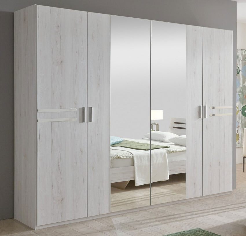 new product 412fc 8fdb4 Susan 4 Door Mirrored Wardrobe With Drawers