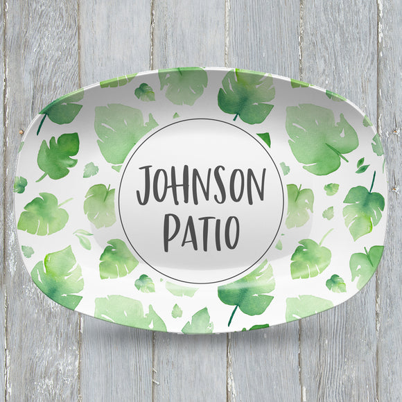 Palm Leaves Personalized Custom Platter