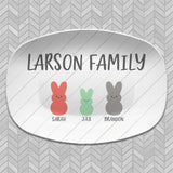 Family Bunny Personalized Platters