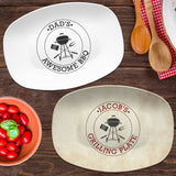 BBQ Grill Custom Personalized Platter