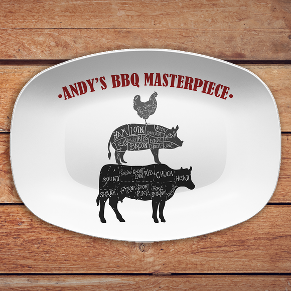 BBQ Butcher Cuts Custom Personalized Platter