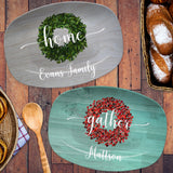 Gather - Blessed - Home - Joyful | Personalized Platter