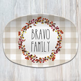 Fall Buffalo Plaid Personalized Platter