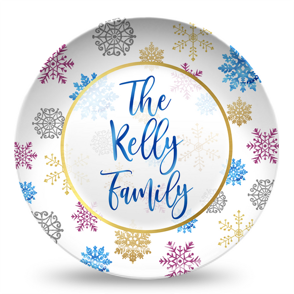 Snowflake Personalized Plate