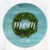 Greenery / Berry Wreath Personalized Plate