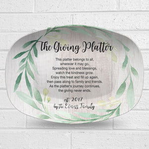 Giving Platter – Greenery Design