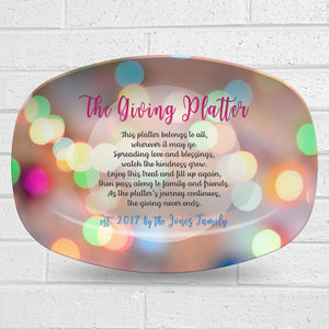 Giving Platter – Circles Design