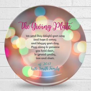 Giving Plate – Circles Design
