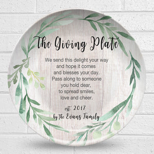 Giving Plate – Greenery Design