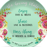 Giving Plate – Flowers Design