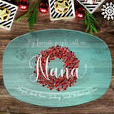 My Favorite People ~ Red Berry Custom Personalized Platter ~ Gift for Mom ~ Gift for Grandma ~ Mother's Day