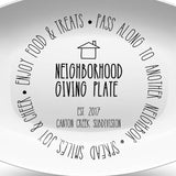 Neighborhood Giving Platter | Black & White