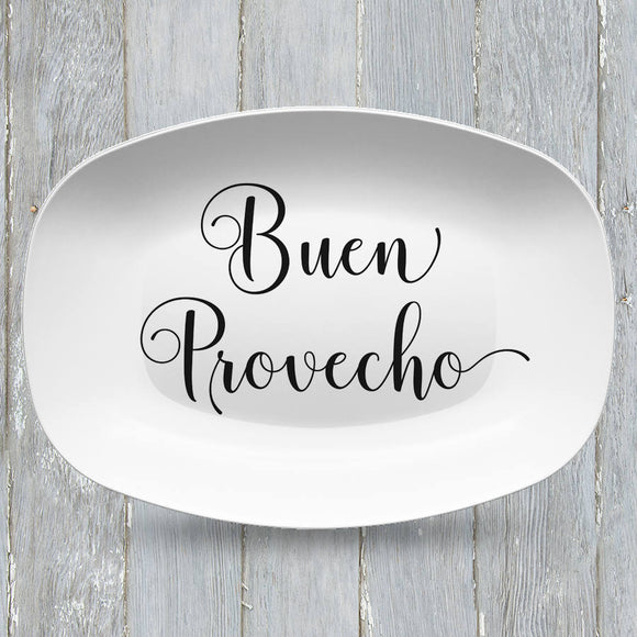 Buen Provecho Platter | Custom Text or Color | Serving Tray | Gifts for Food Lovers - Foodies - Anniversary - Housewarming - Birthday