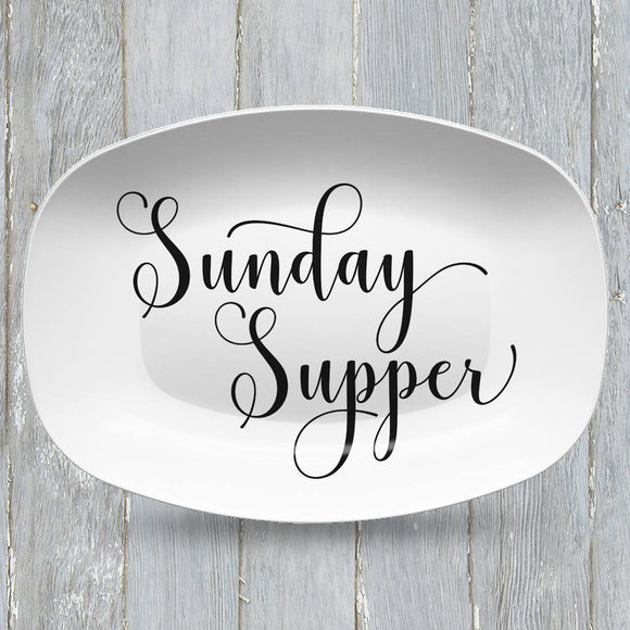 Sunday Supper Platter | Custom Text or Color | Serving Tray | Gifts for Food Lovers - Foodies - Anniversary - Housewarming - Birthday