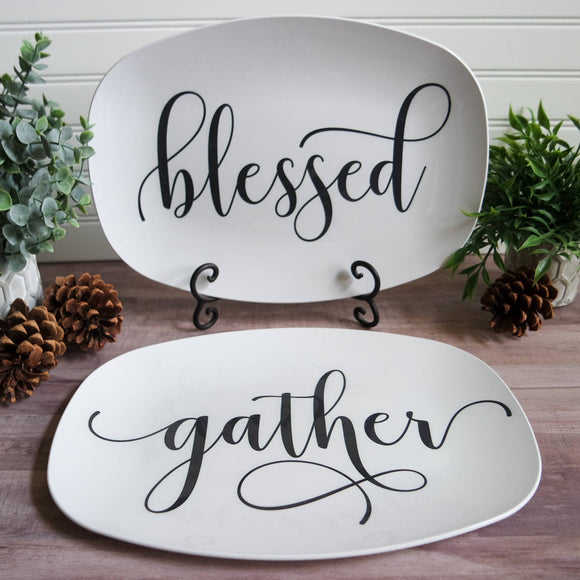 Farmhouse Inspired Script Platter | Choice of Text