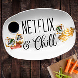Netflix & Chill Platter | Custom Text or Color | Serving Tray | Gifts for Food Lovers - Foodies - Anniversary - Housewarming - Birthday