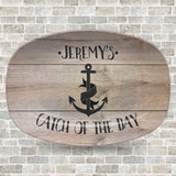 Catch of the Day #1 Fisherman Personalized Platter | Father's Day • Fisherman • Anchor