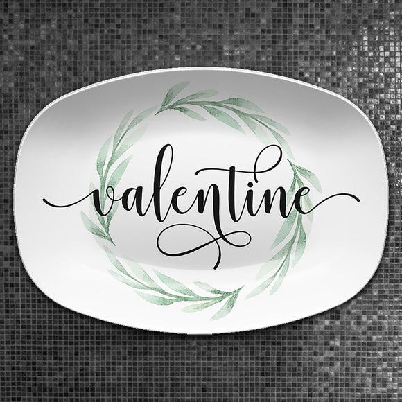 Valentine Farmhouse Script | Personalized Platter | Valentine • Wedding • Shower • Anniversary
