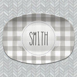 Buffalo Plaid Personalized Platters