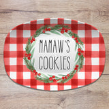 Christmas Buffalo Plaid Personalized Platters